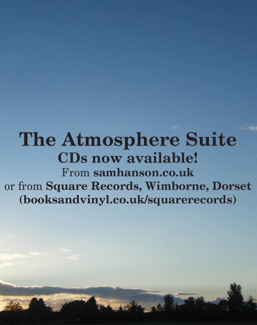 The Atmosphere Suite Album Sam Hanson Advert
